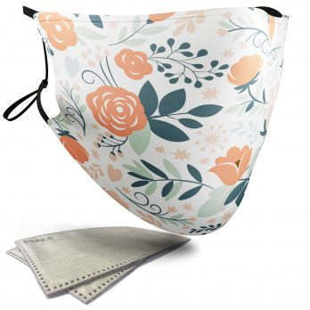Collection of Floral Patterns – Face Masks – 2 Filters Included