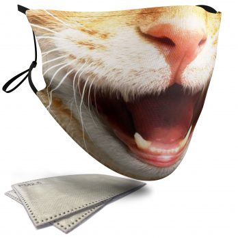 Cat Animal Face – Adult Face Masks – 2 Filters Included
