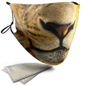 Lion Animal Face – Adult Face Masks – 2 Filters Included