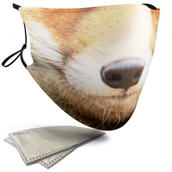 Fox Animal Face – Adult Face Masks – 2 Filters Included