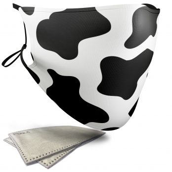 Cow Animal Print – Adult Face Masks – 2 Filters Included