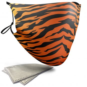 Tiger Animal Print – Adult Face Masks – 2 Filters Included