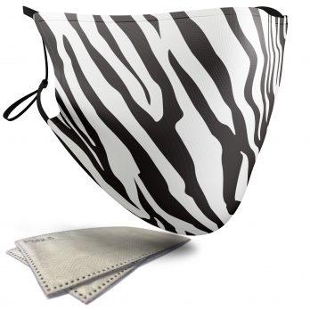 Zebra Animal Print – Adult Face Masks – 2 Filters Included