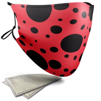 Ladybird Animal Print – Adult Face Masks – 2 Filters Included