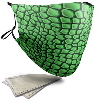 Reptile Animal Print – Adult Face Masks – 2 Filters Included