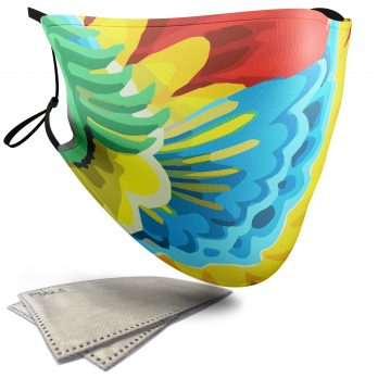 Parrot Animal Print – Adult Face Masks – 2 Filters Included