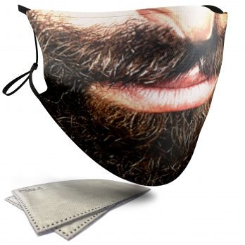 Black Beard – Adult Face Masks – 2 Filters Included