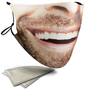 Stubble Beard – Adult Face Masks – 2 Filters Included