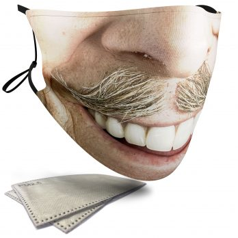 Poirot Moustache – Adult Face Masks – 2 Filters Included