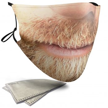 Blonde Beard – Adult Face Masks – 2 Filters Included