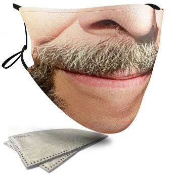 Handlebar Moustache – Adult Face Masks – 2 Filters Included