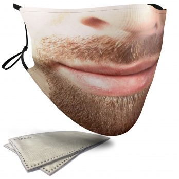 Goatee Beard – Adult Face Masks – 2 Filters Included