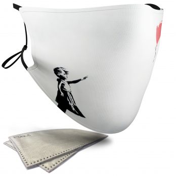 Balloon Girl – Banksy – Adult Face Masks – 2 Filters Included
