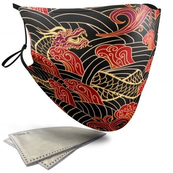 Oriental Pattern – Adult Face Masks – 2 Filters Included