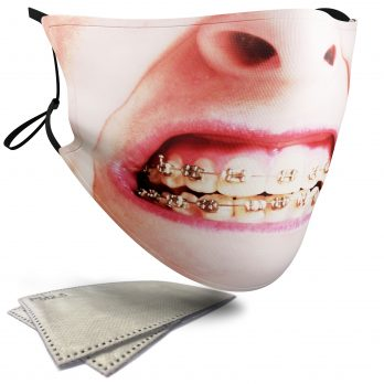 Braces Female Face – Adult Face Masks – 2 Filters Included