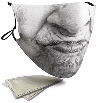 Old Woman Female Face – Adult Face Masks – 2 Filters Included