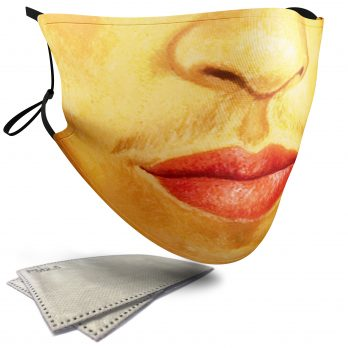 Frida Kahlo Iconic Face – Adult Face Masks – 2 Filters Included