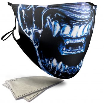Xenomorph Horror Face – Adult Face Masks – 2 Filters Included