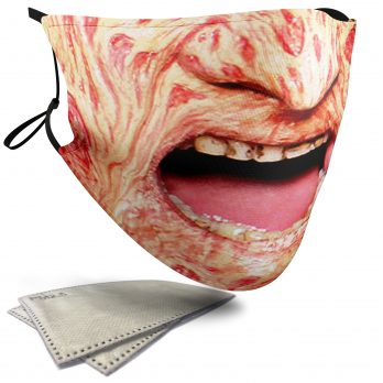 Freddy Krueger Horror Face – Adult Face Masks – 2 Filters Included