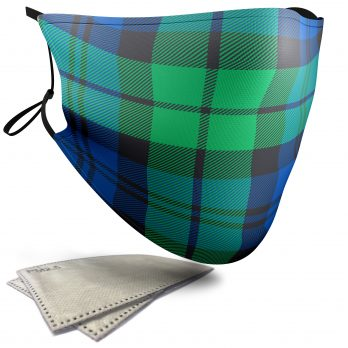 Campbell – Blackwatch Tartan – Adult Face Masks – 2 Filters Included