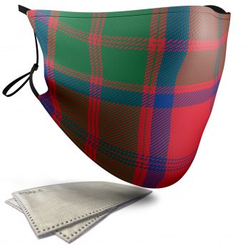 Grant Tartan – Adult Face Masks – 2 Filters Included