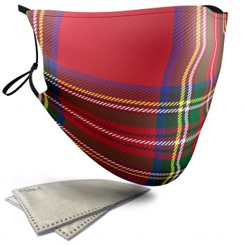 Royal Stewart Tartan – Adult Face Masks – 2 Filters Included