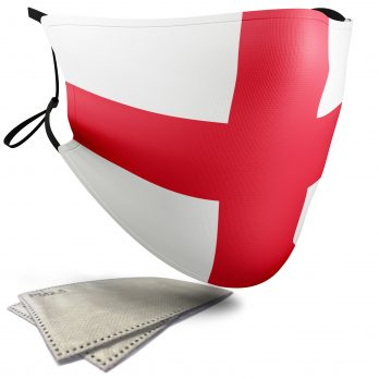 England Flag – Adult Face Masks – 2 Filters Included