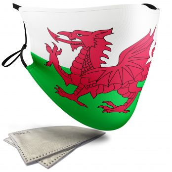 Wales Flag – Adult Face Masks – 2 Filters Included
