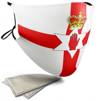 The Ulster Banner Flag – Adult Face Masks – 2 Filters Included
