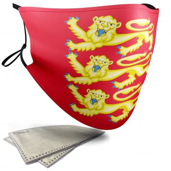 Royal Arms of England Flag – Adult Face Masks – 2 Filters Included