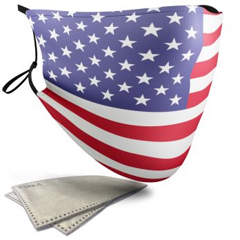 United States of America Flag – Adult Face Masks – 2 Filters Included
