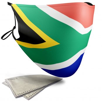 South Africa Flag – Adult Face Masks – 2 Filters Included