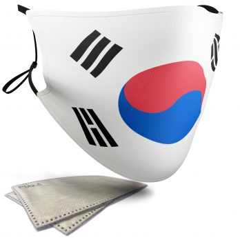 South Korea Flag – Adult Face Masks – 2 Filters Included