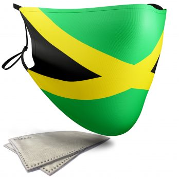 Jamaica Flag – Adult Face Masks – 2 Filters Included