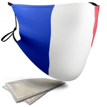 France Flag – Adult Face Masks – 2 Filters Included