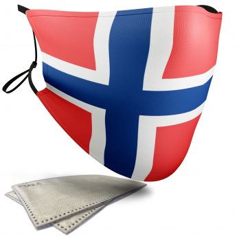 Norway Flag – Adult Face Masks – 2 Filters Included