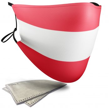 Austria Flag – Adult Face Masks – 2 Filters Included