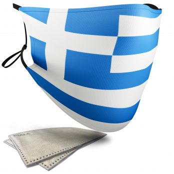 Greece Flag – Adult Face Masks – 2 Filters Included