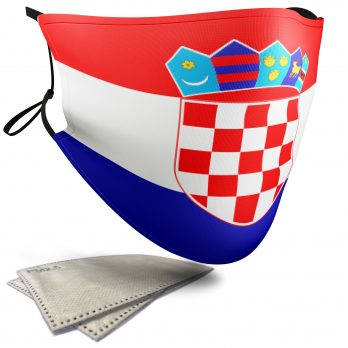 Croatia Flag – Adult Face Masks – 2 Filters Included