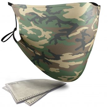 Brown Highland Camouflage – Adult Face Masks – 2 Filters Included