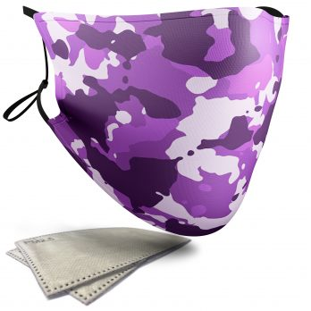Purple Camouflage – Adult Face Masks – 2 Filters Included