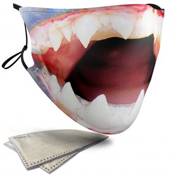 Piranha Aquatic Animal – Adult Face Masks – 2 Filters Included