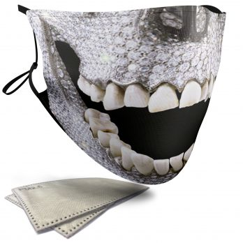 Diamond Skull – Adult Face Masks – 2 Filters Included