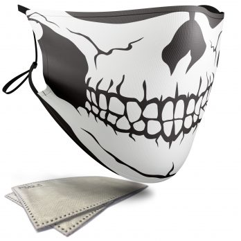 Cartoon Skull – Adult Face Masks – 2 Filters Included