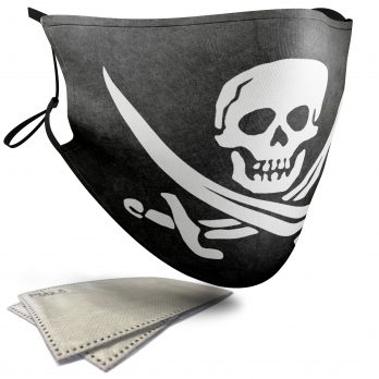 Jolly Roger Skull – Adult Face Masks – 2 Filters Included