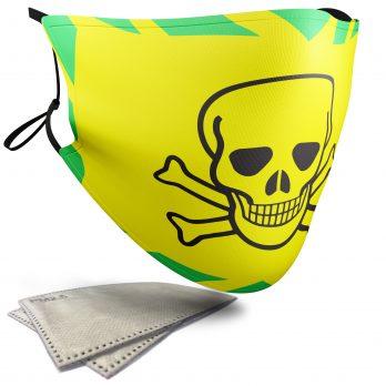 Warning Skull – Adult Face Masks – 2 Filters Included