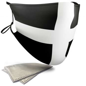 Flag of Cornwall  – Adult Face Masks – 2 Filters Included