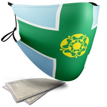Flag of Derbyshire  – Adult Face Masks – 2 Filters Included