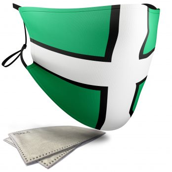 Flag of Devon  – Adult Face Masks – 2 Filters Included