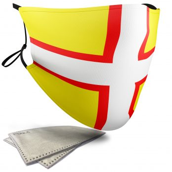 Flag of Dorset  – Adult Face Masks – 2 Filters Included